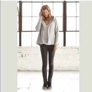 JAMES PERSE Open Front Hoodie Terry Knit Sweater